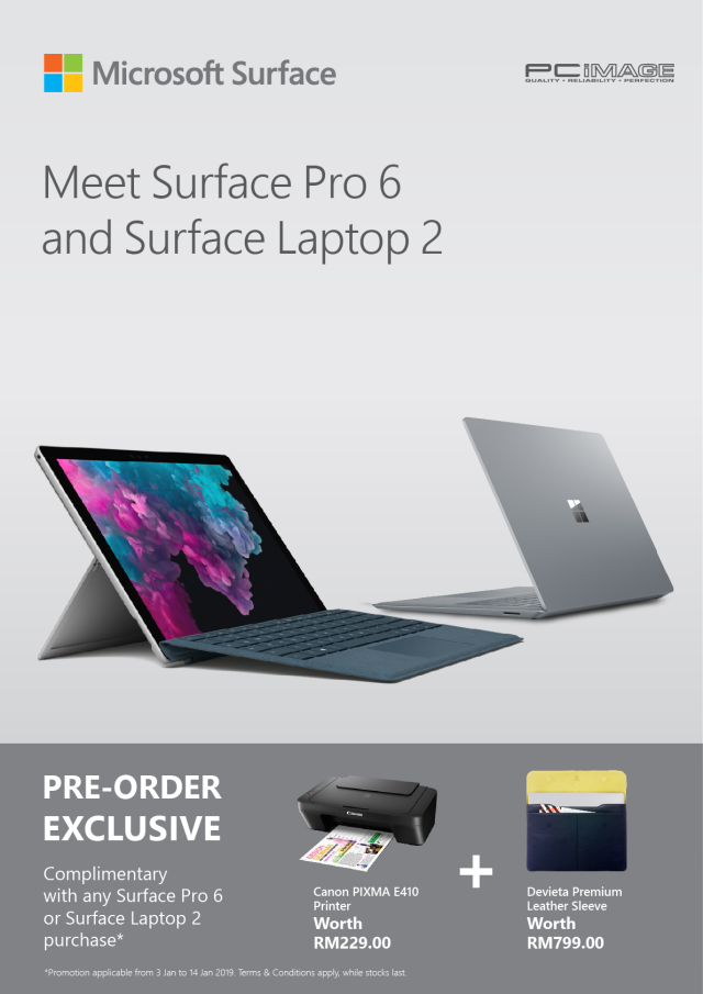 New Surface Pro 6 and Surface Laptop 2 Pre-Order – PC Image