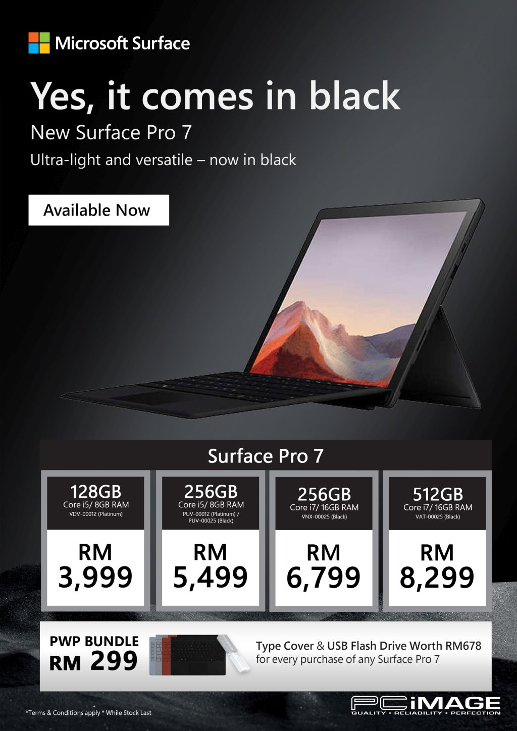 Surface Pro 7 Exclusive Bundle @ PC Image