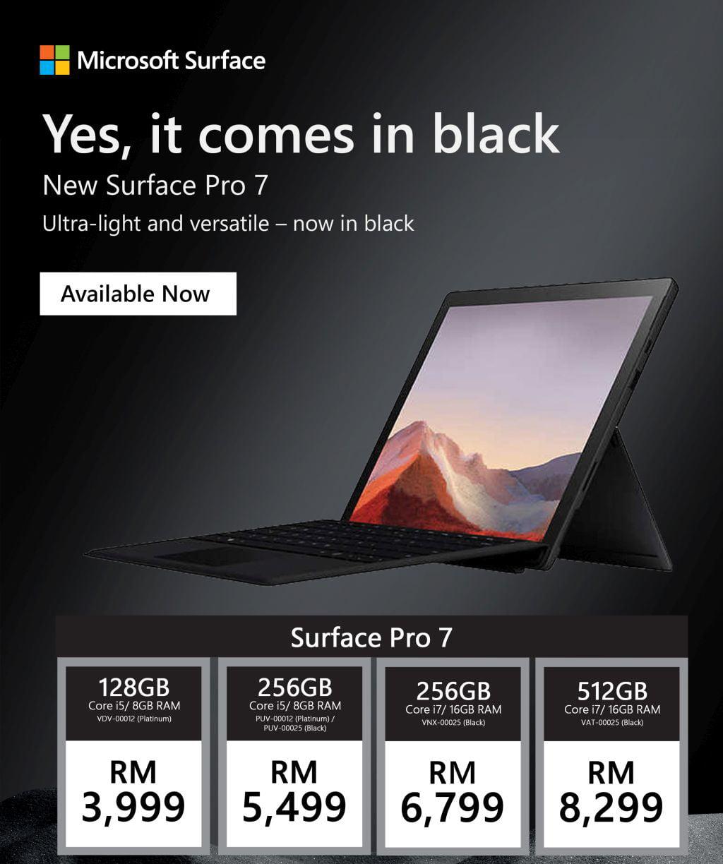 Microsoft Surface Pro 7 Malaysia
